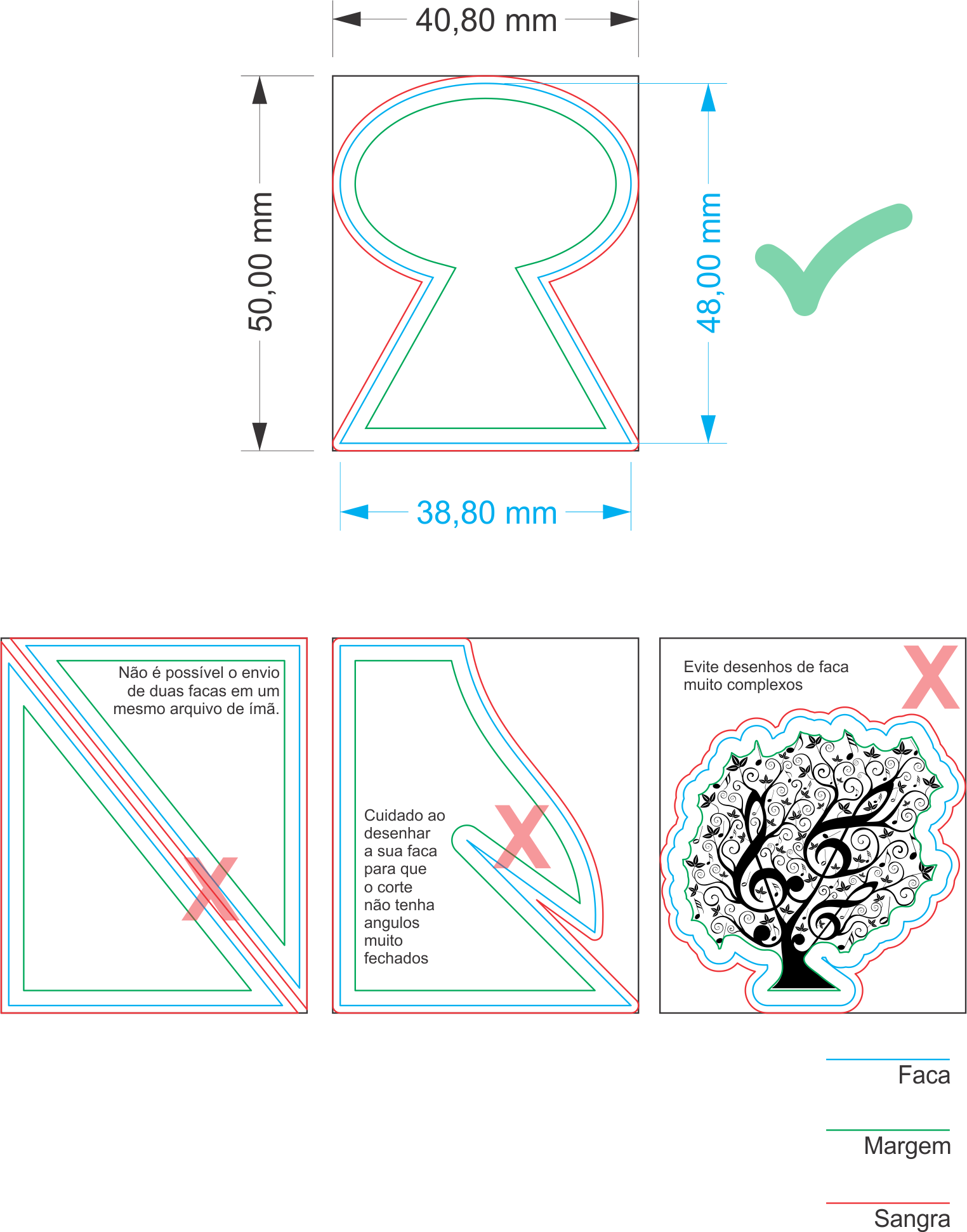 Desenhando a Faca l Gráfica Cores