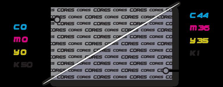 Cinza composto x Cinza Puro l Gráfica Cores l Instruções