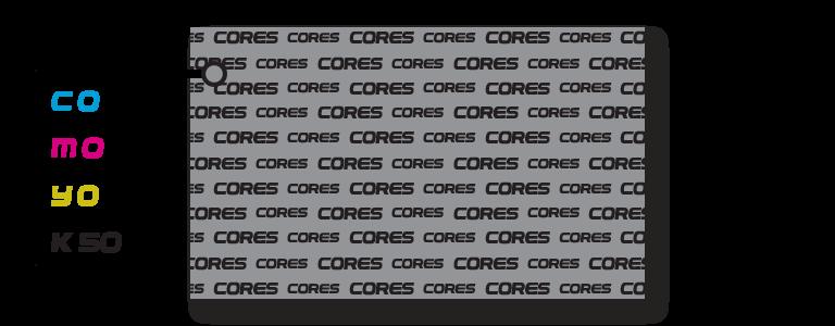 Cinza puro l Gráfica Cores l Instruções