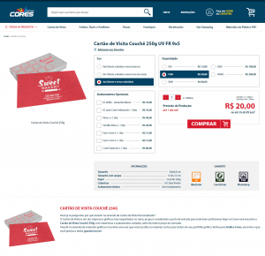 Como comprar - Filtro Cartão de Visita 250g - Gráfica Cores