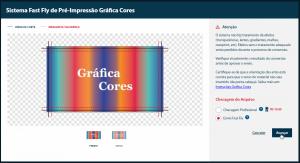 Como comprar - Visualização das artes no Fast Fly - Gráfica Cores