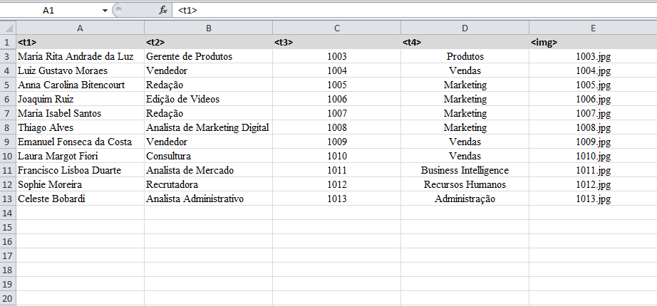 Documento exemplo Excel l Gráfica Cores